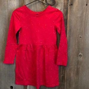 Gap Red Glitter Long Sleeve Dress Large Size 10